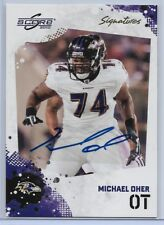 2010 Score Football Michael Oher Signatures Autograph Card # 23