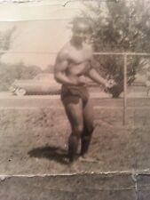 Vintage photo of African American body builder