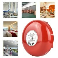 24V Red Iron Fire Alarm Bell Factory School Garage Electric Bell 6inch