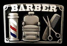 Men's Barber Shop Haircut Style Barbers Scissors Pole Belt Buckle Belts Buckles