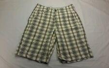 Mens Designer American Eagle Longboard Gray Plaid Casual Shorts Size 28