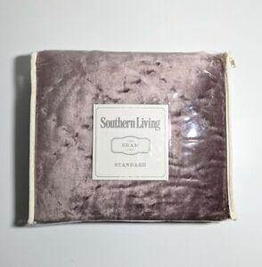 Southern Living Westover Velvet Diamond Quilted Standard Sham 20 x 26 Blush Pink
