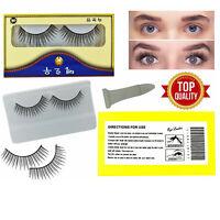 2 Pairs Long Natural Thick Handmade False Eyelashes Eye Lashes Magnet or Mink