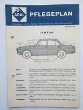 Schmierplan original ARAL DKW F102
