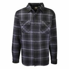 Harley-Davidson Men's Black Blue Grey Plaid L/S Woven Shirt (S42)