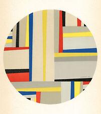 Fritz Glarner lithograph -- De Stijl