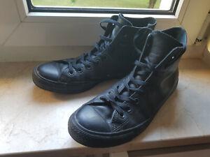 Converse Chucks High Sneaker, Echtleder, Gr. 42, schwarz, Herren, Schuhe