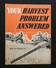 "c.1940 ALLIS-CHALMERS ""MODEL 60 ALL-CROP HARVESTER COMBINES"" BROCHURE CATALOG"