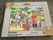 Vintage victory wooden jigsaw puzzle the postman 30 pieces