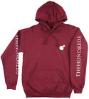 The Hundreds Solid Bomb Hoodie Sweatshirt Pullover Burgundy Mens