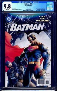 Batman #612 CGC 9.8 CLASSIC SUPERMAN BATMAN COVER NM/MT Jim Lee ART