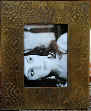 """* REDUCED *   Embossed Metal   Photo Frame   (  7 """"  x   5  """" )     BRAND NEW"""