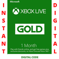 1 Month Xbox Live Gold - Instant Delivery - Xbox One / 360 - Works Worldwide