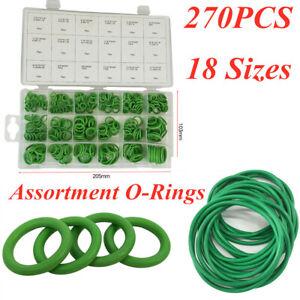 270Pcs O-Ring Gasket Seals Washer Rapid Seal Repair Kit 18Sizes AC A/C System