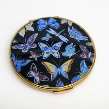 Stratton England BUTTERFLY COMPACT + Mirror Powder Rouge Screen & Flip Cover 60s