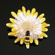 New Shiny Crystal Yellow Cute Bee Enamel Betsey Johnson Charm Brooch Pin gift