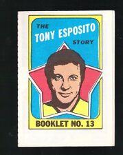 1971 Topps Hockey Set TONY ESPOSITO BOOKLET #13