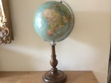 ANTIQUE VINTAGE TERRESTRIAL WORLD GLOBE