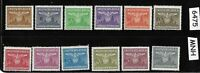 Third Reich Officials complete MNH stamp set 1943 German Occupied Poland WWII