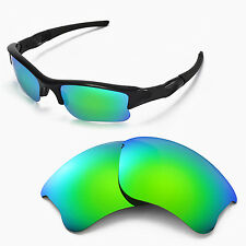 WL Polarized Emerald Replacement Lenses For Oakley Flak Jacket XLJ Sunglasses