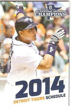 2014 DETROIT TIGERS LITTLE CEASARS PIZZA POCKET SCHEDULE - MIGUEL CABRERA - WOW!