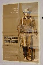 Steve McQueen TOM HORN Original 1980 One Sheet Movie Poster 27x41 Folded