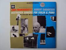 """Beethoven Sonatas For Violon Piano FRANCESCATTI CASADESUS 12 """" LP (2680)"""