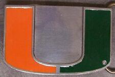 NCAA Pewter Belt Buckle Miami Hurricanes NEW