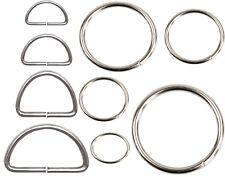 Metal D ring Web Dee Webbing Strap handbag Purse Bag Strap Belt Buckle Silver