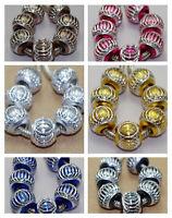 12pcs Large Hole Aluminum Beads lantern Spacer beads Bracelet for Europe DFL01