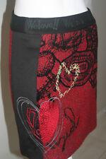 BNWT Desigual Wool Red Skirt Size 34(XS)