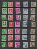 Complete Unused Set of 1940 Famous Americans Issues ( Scott's #s 859 to 893)
