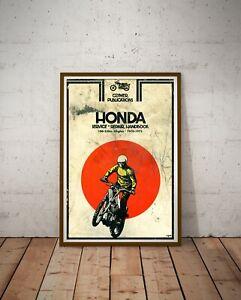 "1970-72 HONDA Motorcycle Handbook POSTER! (up to full-size 24"" x 36"") - Japan"