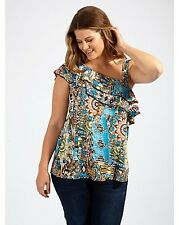 Lovedrobe One Shoulder Aztec Blouse Multi Size UK 20 DH077 ii 07