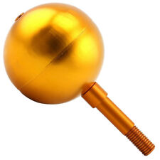 """3""""INCH GOLD ANODIZED ALUMINUM FLAGPOLE BALL ORNAMENT FLAG FINIAL POLE TOPPER"""