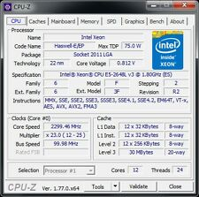 Intel Xeon e5-2648l v3 QS 12c/24t 2,1 - 2,5 GHz 75 W S 2011-3 X 99 Bureau Serveur