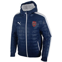Puma AFC Arsenal T7 Mens Hooded Full Zip Blue Padded Jacket 746372 03 P4