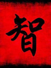 Painting Illustration Chinese Calligraphy Wisdom Symbol Canvas Art Print