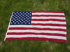 More details for vintage us stars & stripes cotton flag 3 x 5' wpl 1721