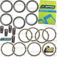 Apico Clutch Kit Steel Friction Plates & Springs For Kawasaki KX 125 2005 MotoX