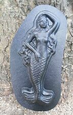 Plastic mold  mermaid plaque mold concrete plaster casting garden  mold
