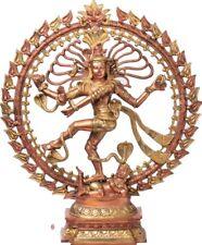 """Master Shiva Nataraja on Apasmara Jai God Statue 25"""" Brass Hindu Figure 13.6 KG"""