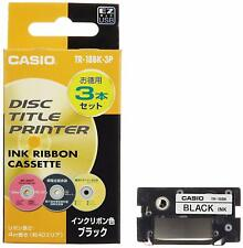Casio TR-18BK-3P Disc Title Printer Ink Ribbon Black 3pcs From Japan F/S