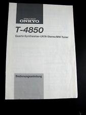 ORIGINALE ISTRUZIONI OPERATING MANUAL sintonizzatore ONKYO t-4850 en