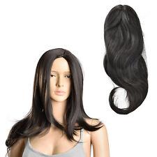 [in.tec] Perruque noir à longs cheveux art pour femmes lisse 61cm