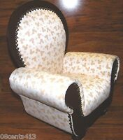 Disney's Mickey Mouse Print Miniature Wooden & Polyester Stuffed Antique Chair