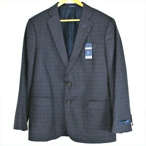 NWT Mens Stafford Classic Fit Stretch Blazer Sz 44S Plaid Sport Coat $160 Retail