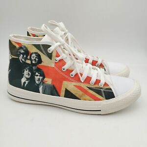 The Beatles Shoes Canvas High Top Sneakers Men's Size 8 Womens Size 9