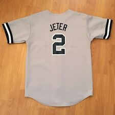Vintage Majestic Boy's Derek Jeter New York Yankees Mlb Stitched #2 Jersey Large