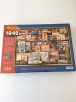 Gibsons 'Memories of the 1940's Toy Box ' 1000 Piece Jigsaw Brand New Sealed